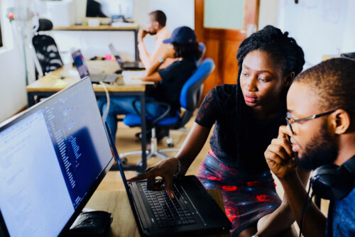Women learning cybersecurity skills 9bf6i
