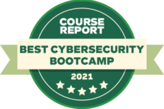 Course report best cybersecurity 2021 badge green