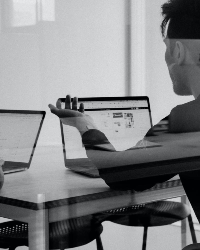 Looking at coding screens