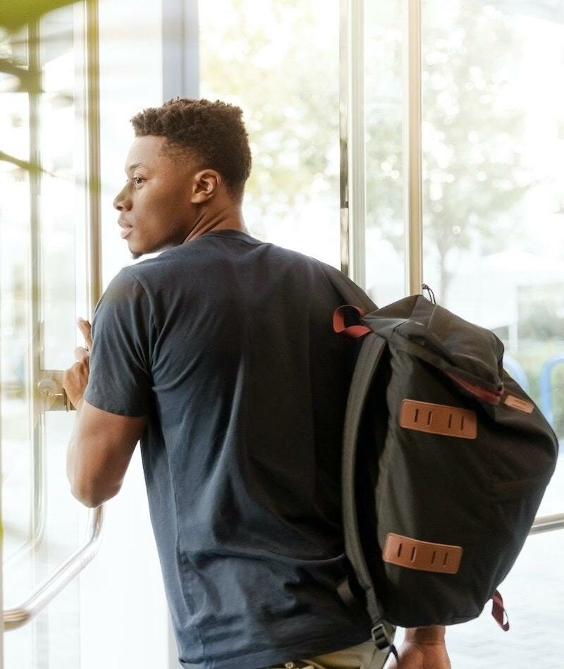 University student with backpack